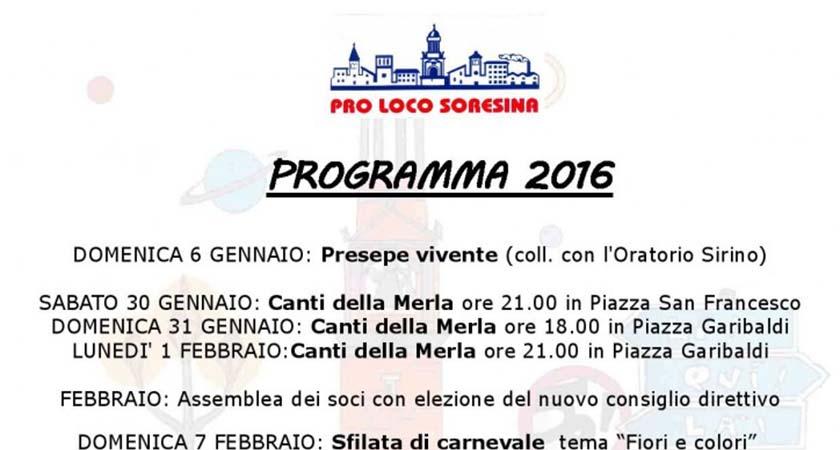 Programma Pro Loco 2016
